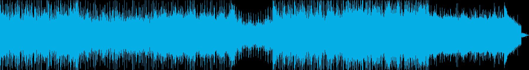 テクノで技術のある曲の再生済みの波形