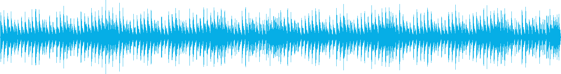 8bit、四つ打ちのチップチューンの再生済みの波形