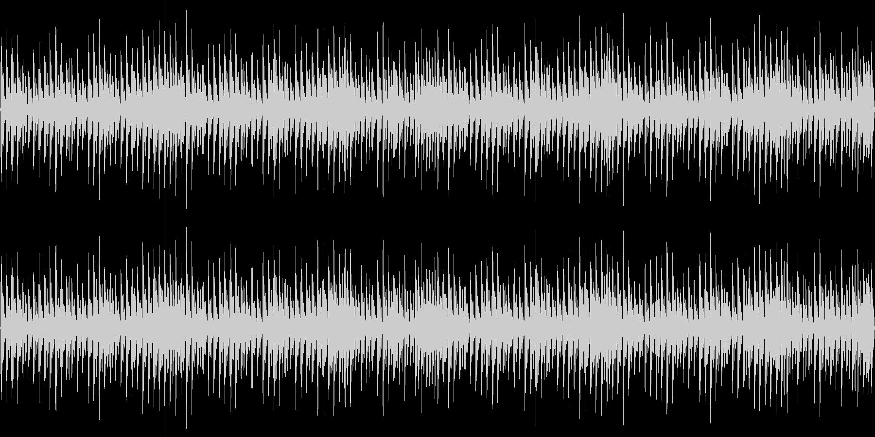 8bit、四つ打ちのチップチューンの未再生の波形