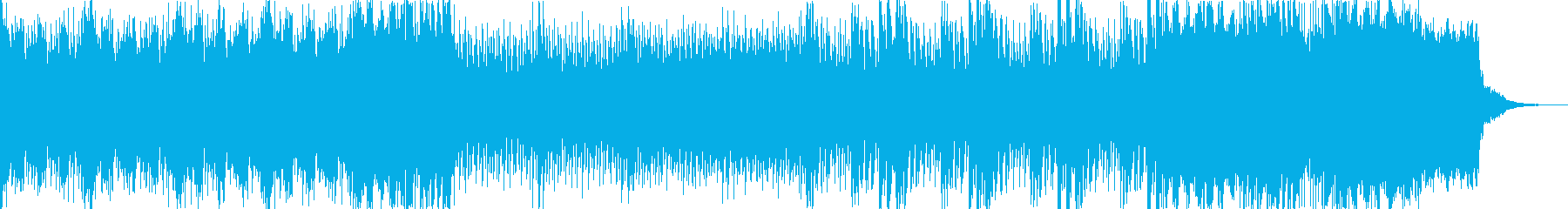 ゲームなどの戦闘シーンにピッタリの1曲の再生済みの波形