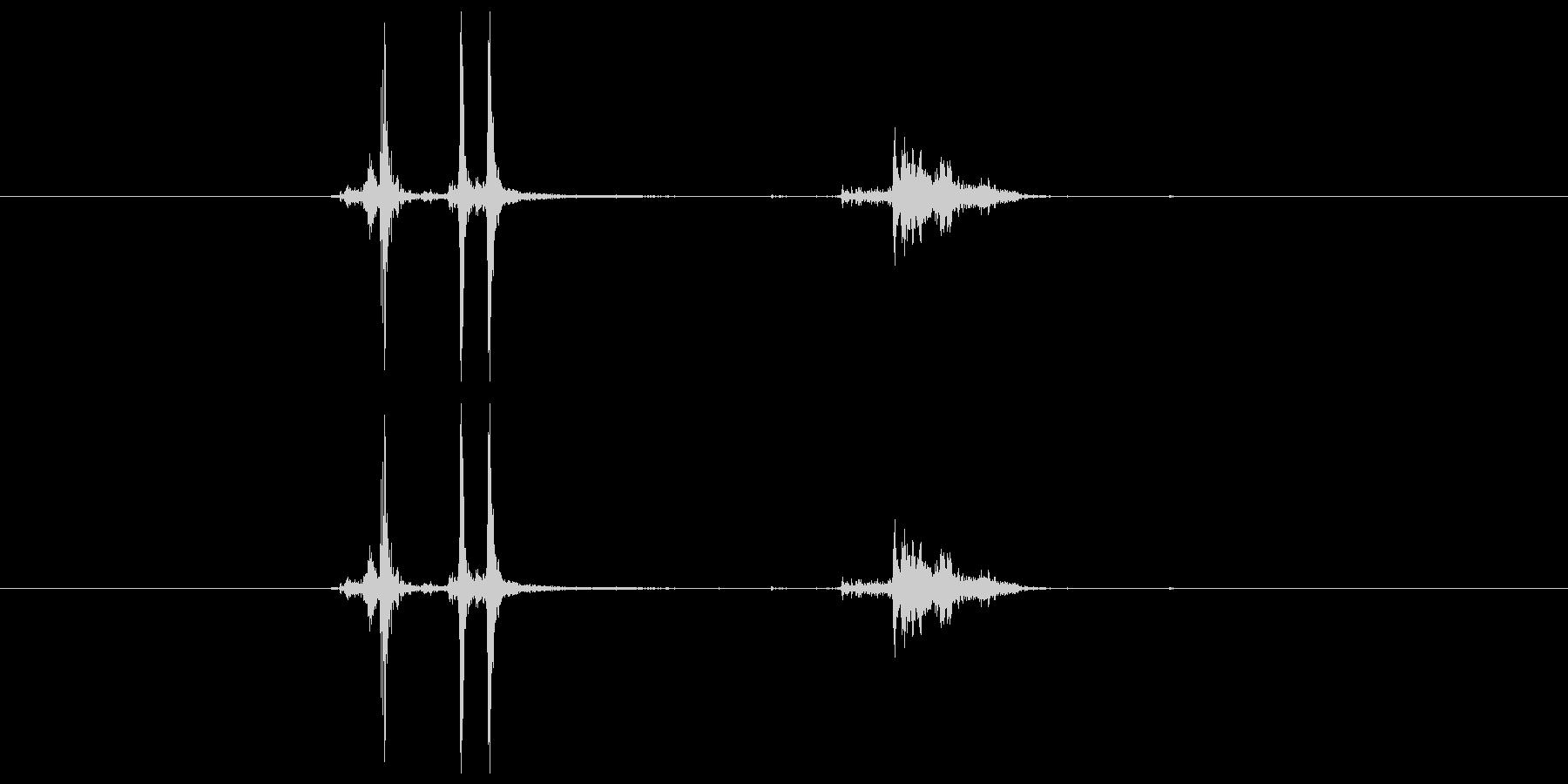 カシャッ(シャッター、カメラ)の未再生の波形