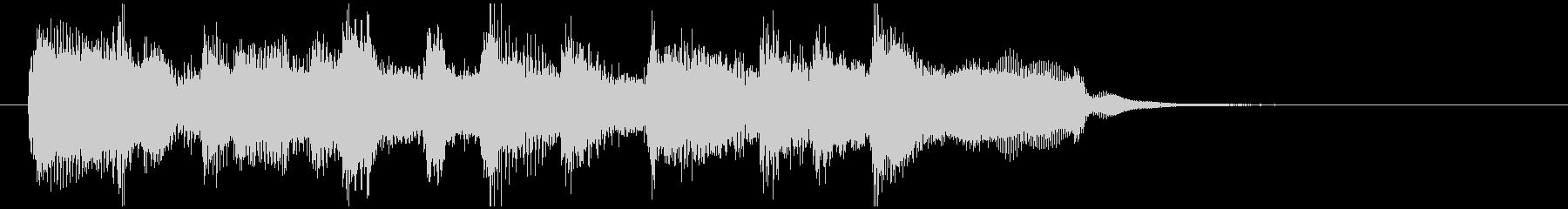 管楽器ファンクのサウンドロゴ、明るいの未再生の波形
