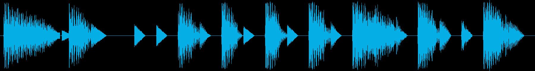 レトロゲームジングル:かっこいい感じの再生済みの波形