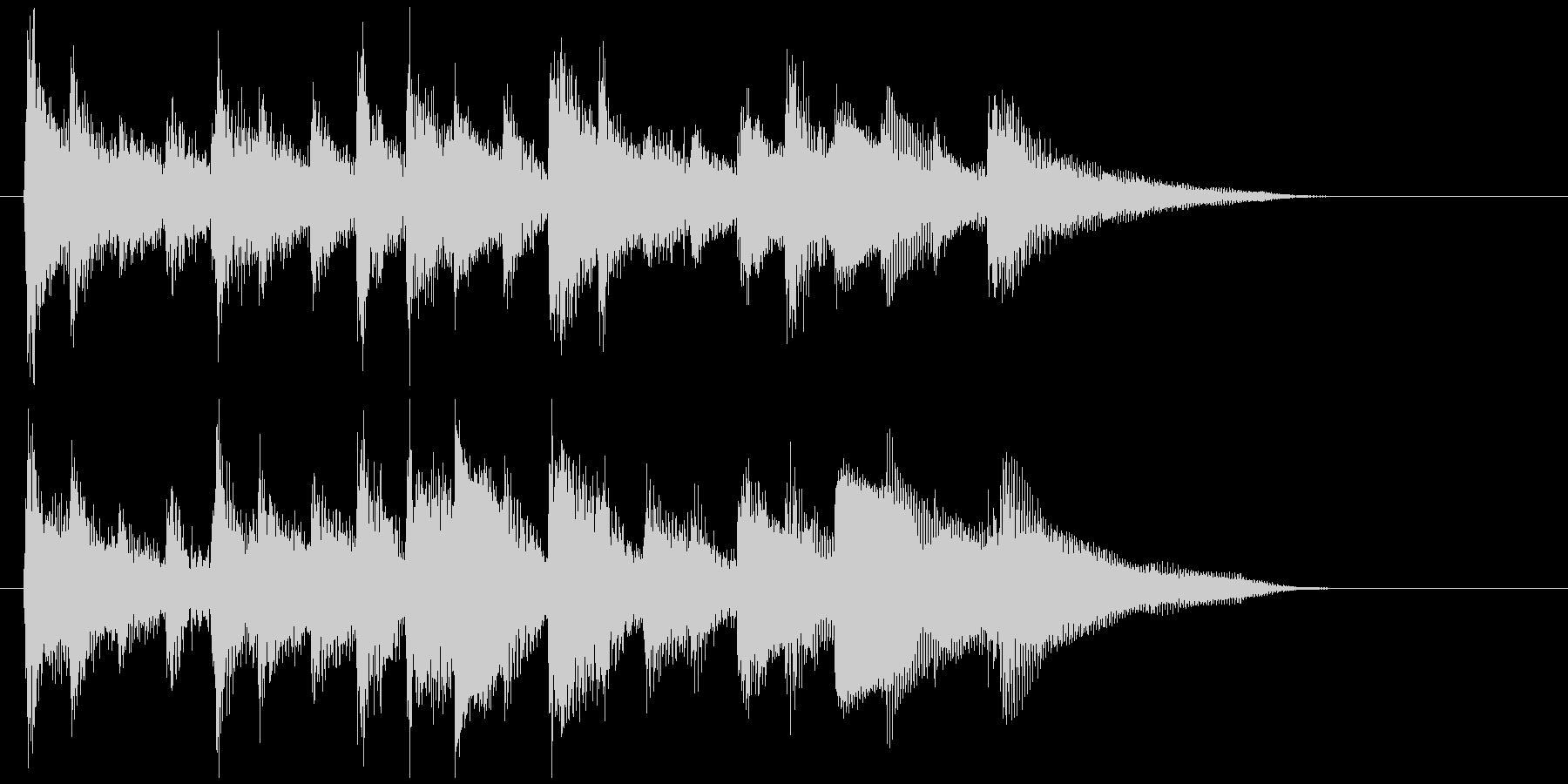 素敵に儚く切ないウクレレ生演奏のジングルの未再生の波形