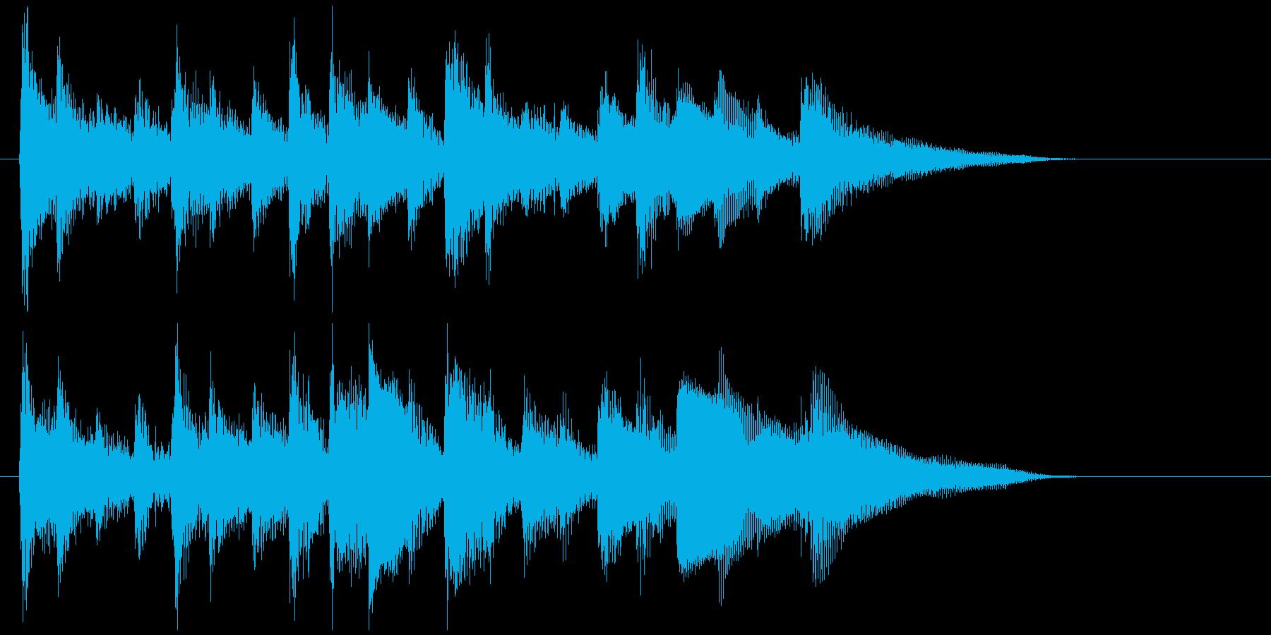 素敵に儚く切ないウクレレ生演奏のジングルの再生済みの波形