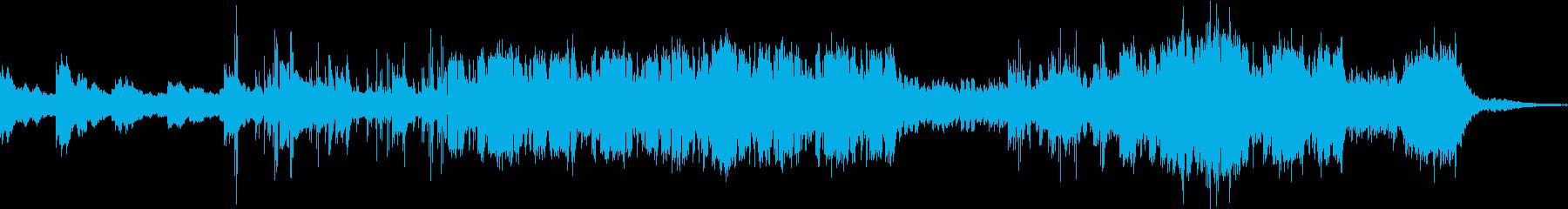 考え中シリアス調の幻想的空間系BGMの再生済みの波形