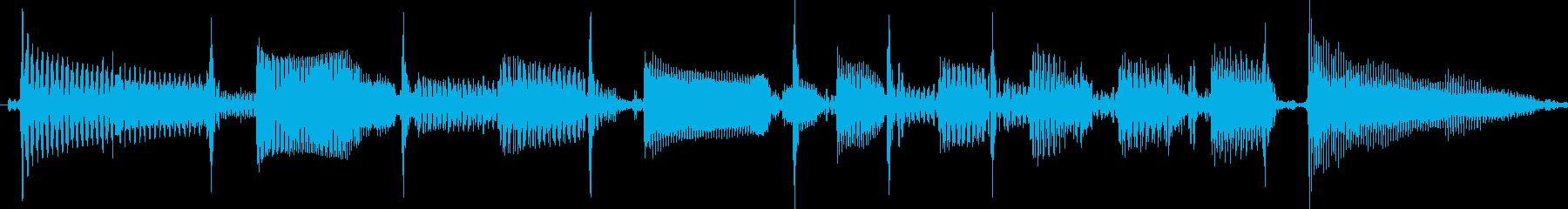 短いスラップベースソロ素材の再生済みの波形
