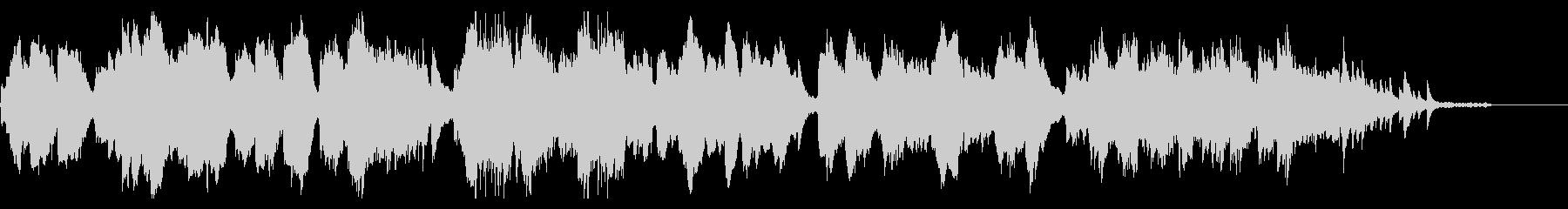 クラリネットとバイオリンの切ない室内楽の未再生の波形