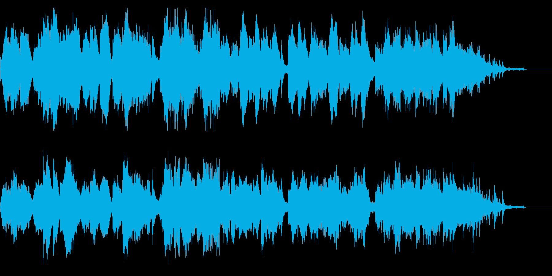クラリネットとバイオリンの切ない室内楽の再生済みの波形