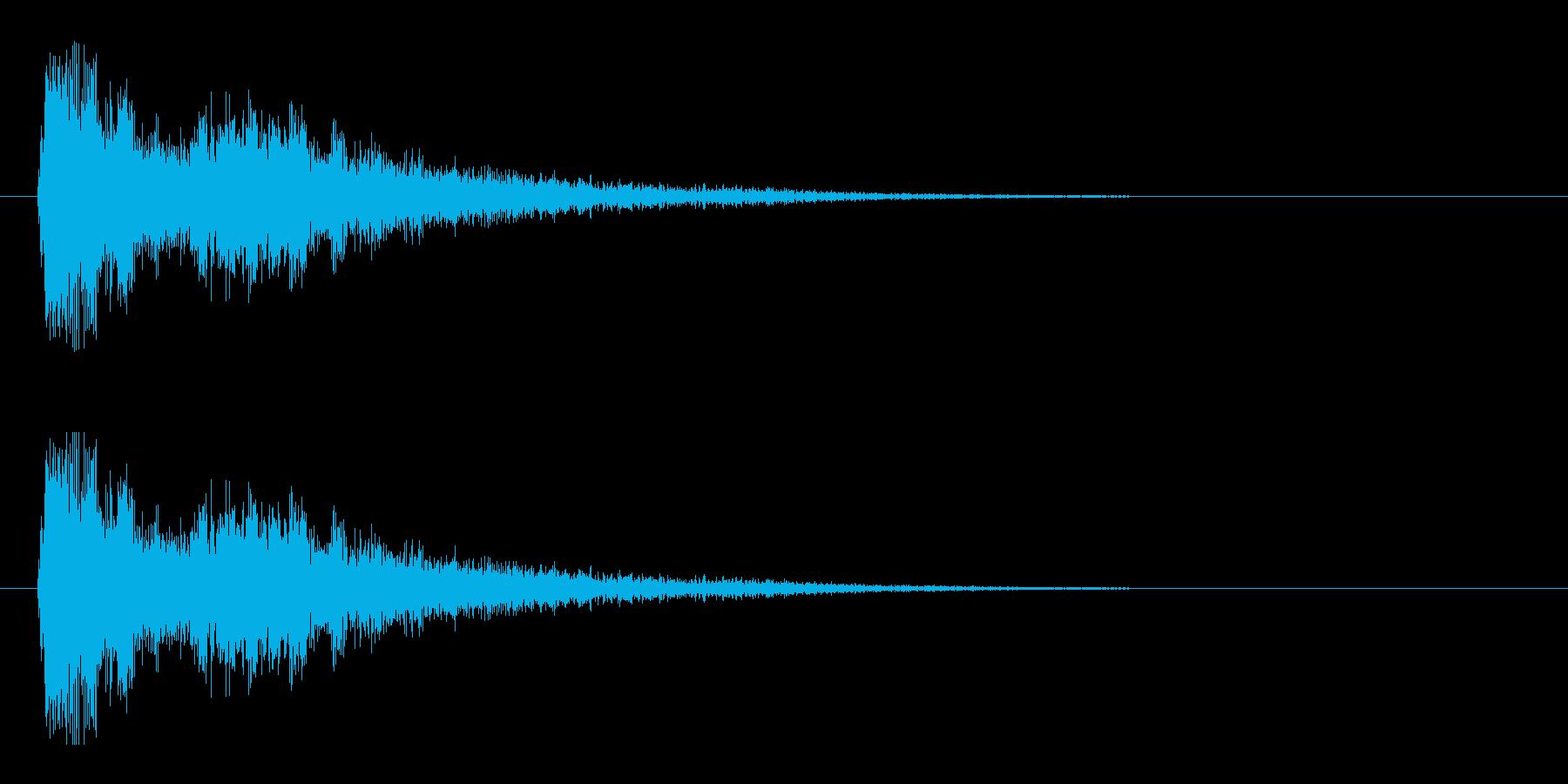 レーザー音-05-3の再生済みの波形