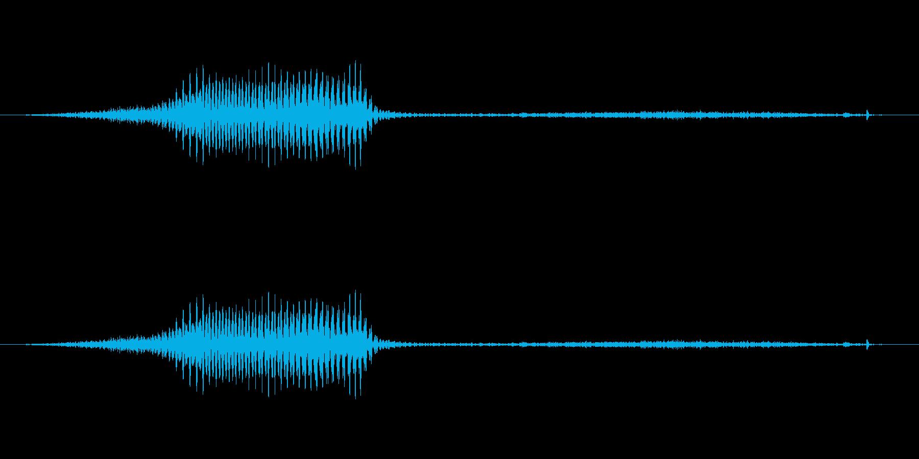 (女性)ドイツ語 数字6(六) ゼクスの再生済みの波形