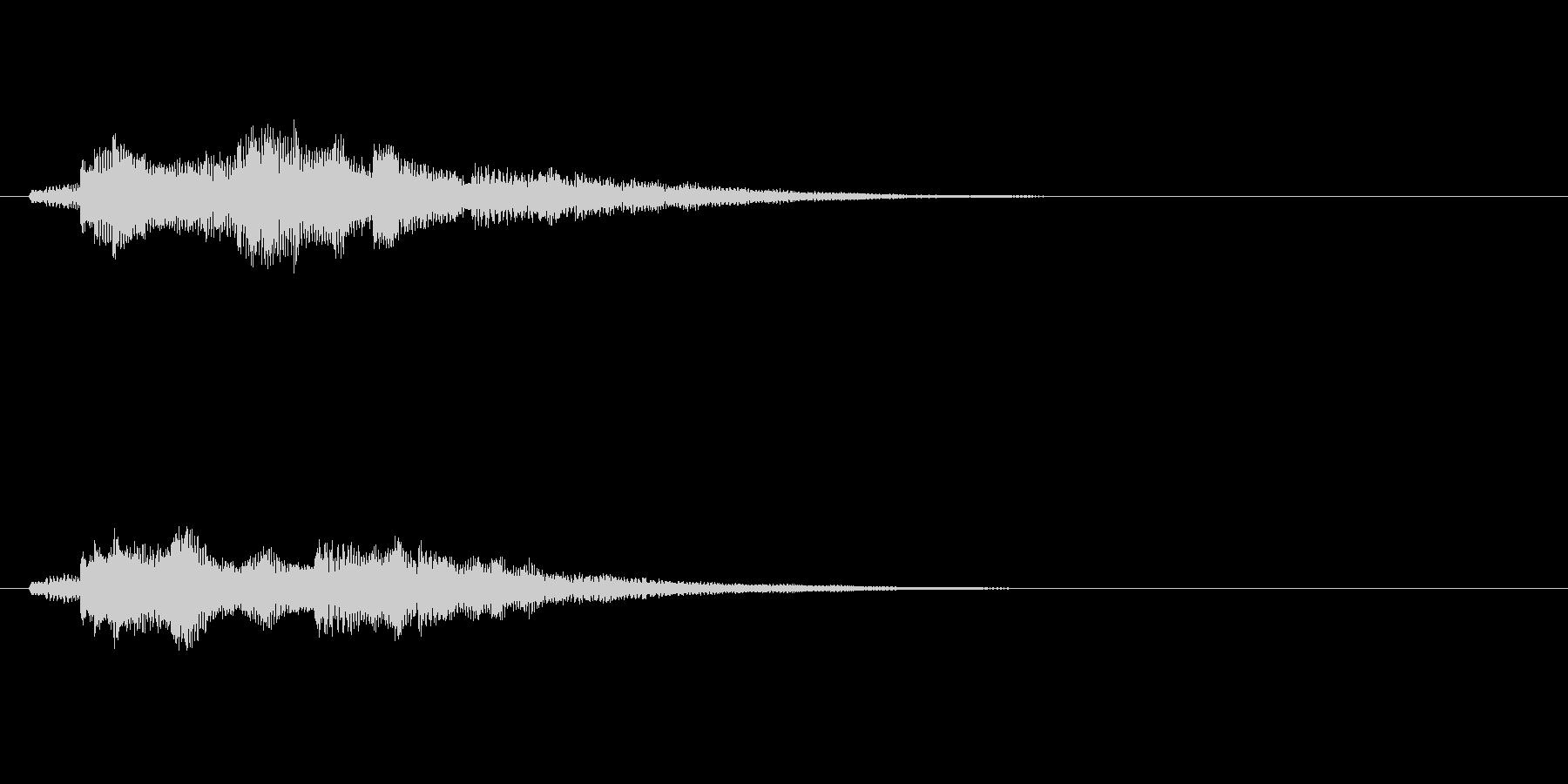 爽やかなギターサウンドロゴ の未再生の波形