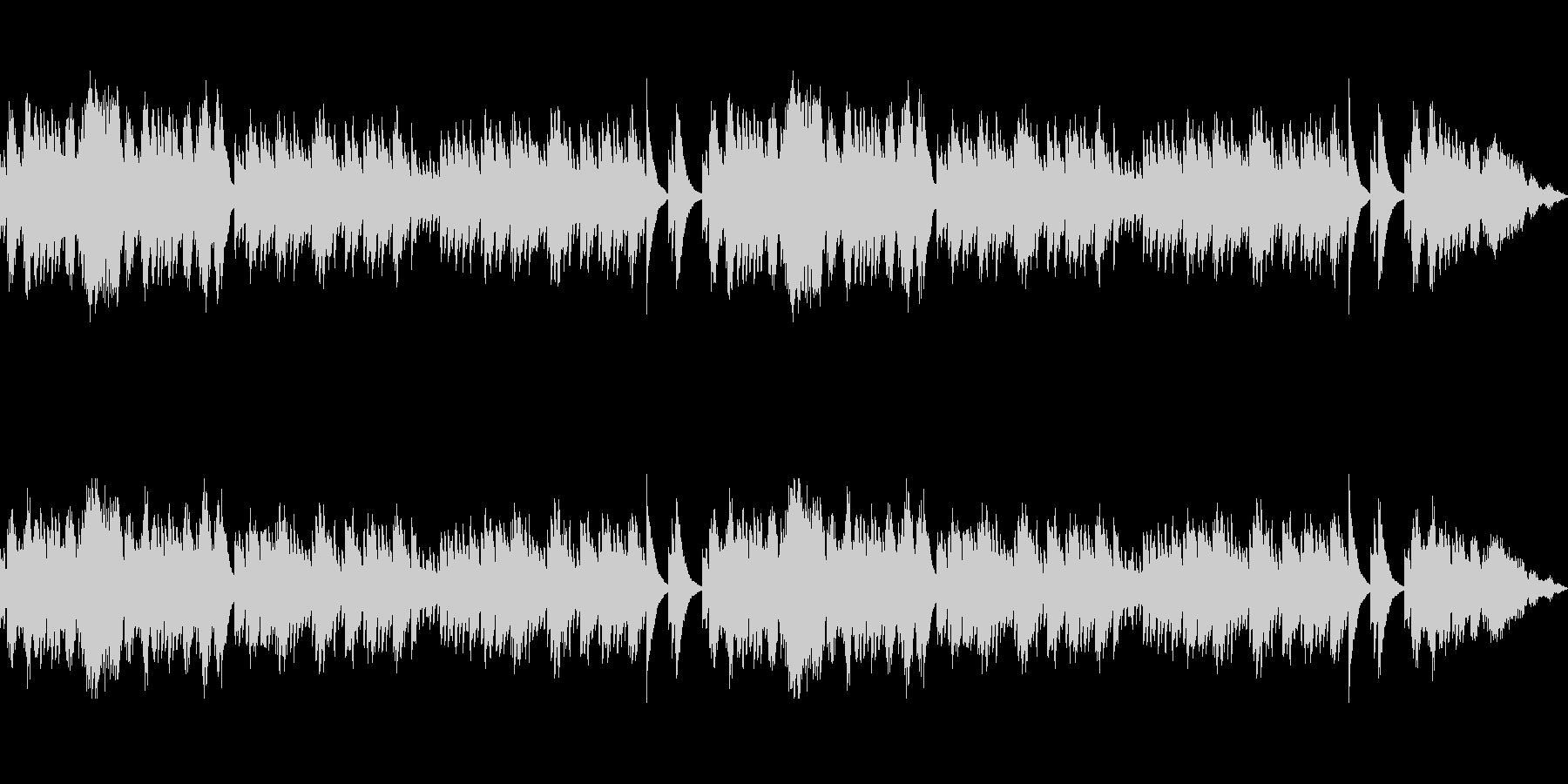 ファンタジー感溢れるオルゴールBGMの未再生の波形