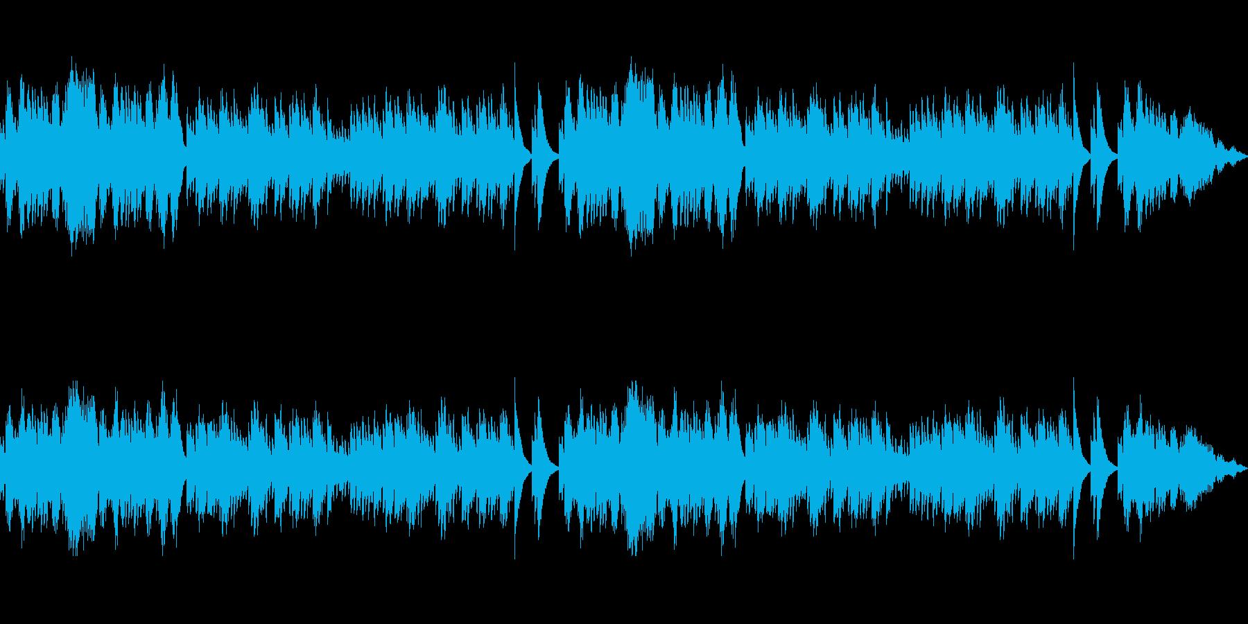 ファンタジー感溢れるオルゴールBGMの再生済みの波形