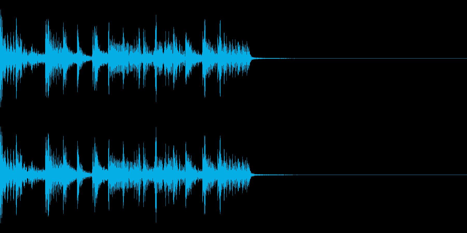 スラップベースが目立つ短めなジングルの再生済みの波形