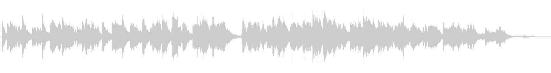 透明感のあるソプラノサックスとピアノの未再生の波形