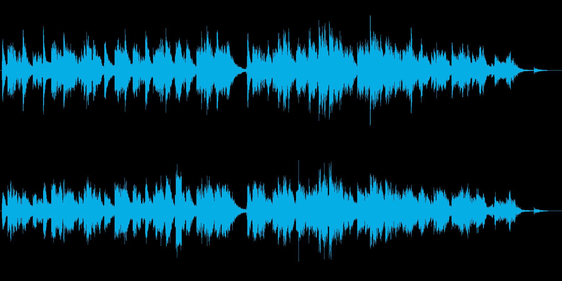 透明感のあるソプラノサックスとピアノの再生済みの波形