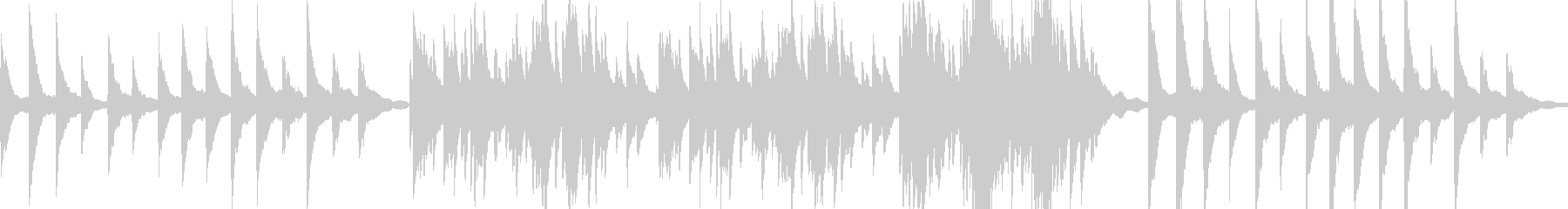 ゆったりと静かなピアノソロ の未再生の波形