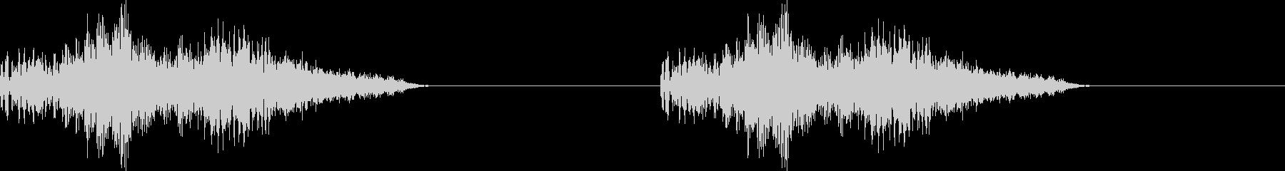 アラート音 LOOP有り 危険度中の未再生の波形