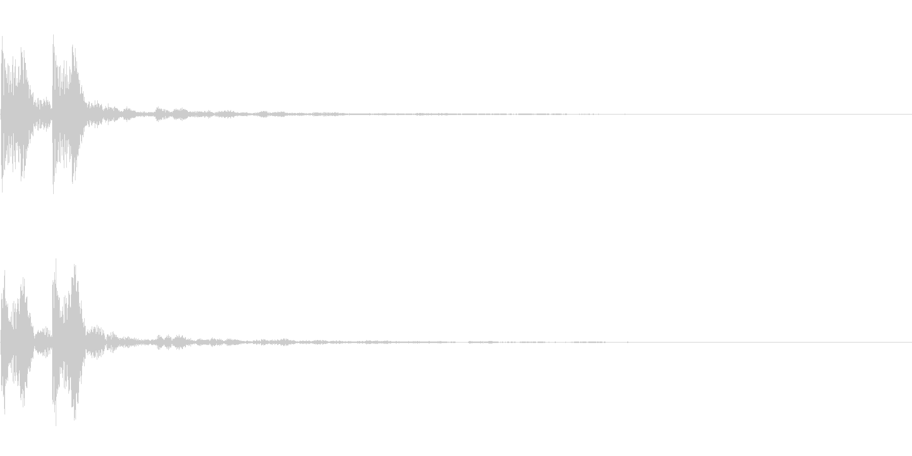 【SE 効果音】エラーの未再生の波形