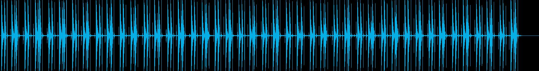 ファンキーなコンガビートの再生済みの波形