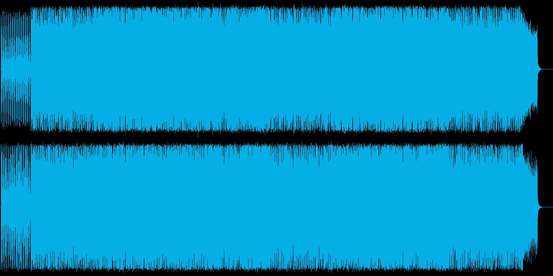 キラキラしたスピード感あるメロディーの再生済みの波形