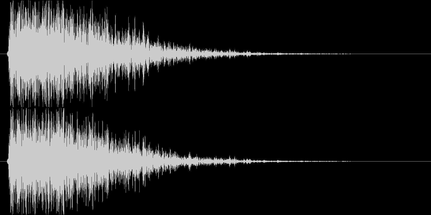 【ガオー】ドラゴン/モンスターの鳴き声の未再生の波形