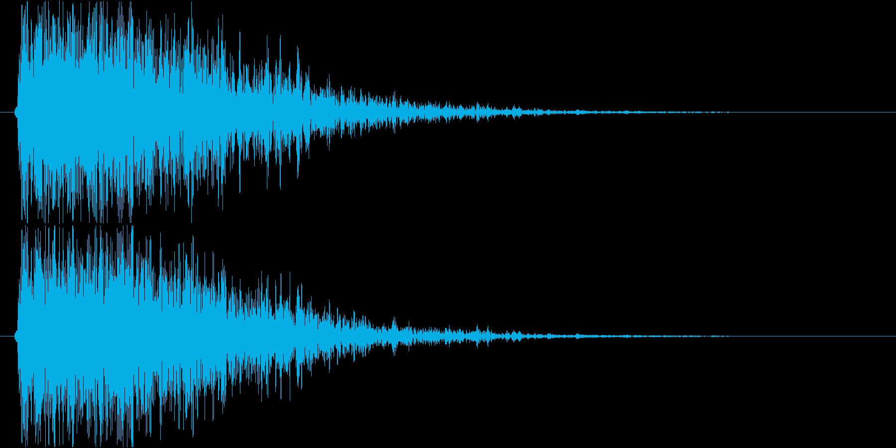 【ガオー】ドラゴン/モンスターの鳴き声の再生済みの波形