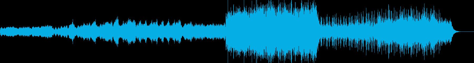アンビエント風BGMの再生済みの波形
