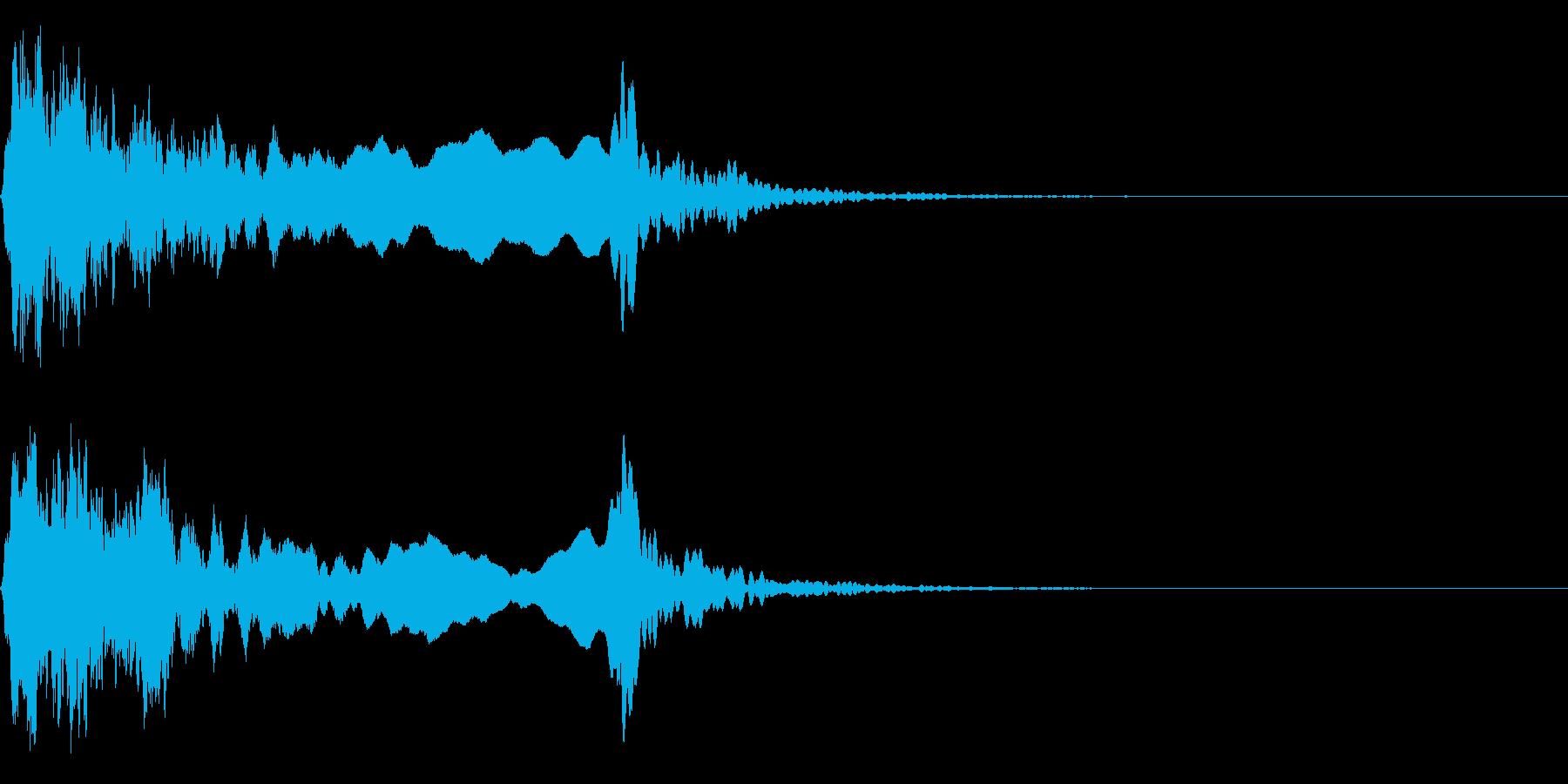 和風な歌舞伎の笛(能管)効果音です♪02の再生済みの波形