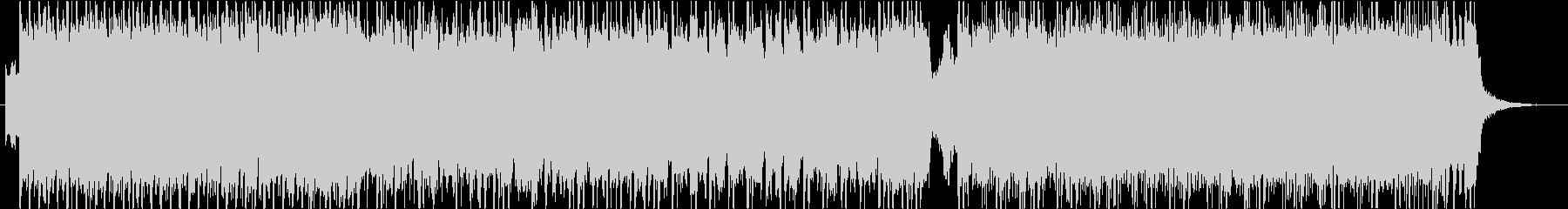 ポップロックサウンドの未再生の波形