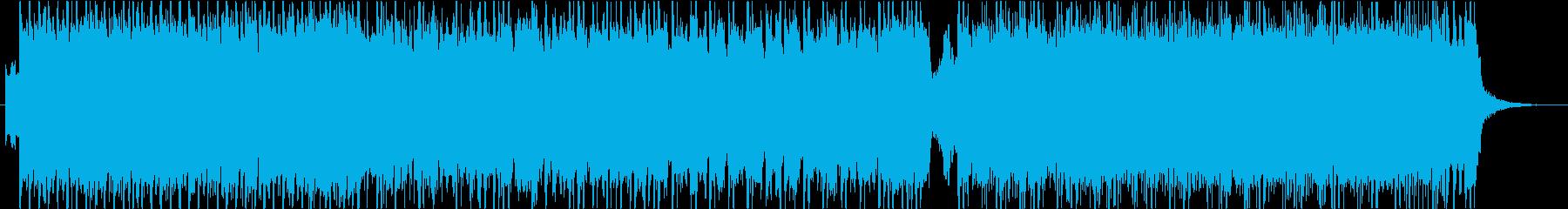 ポップロックサウンドの再生済みの波形