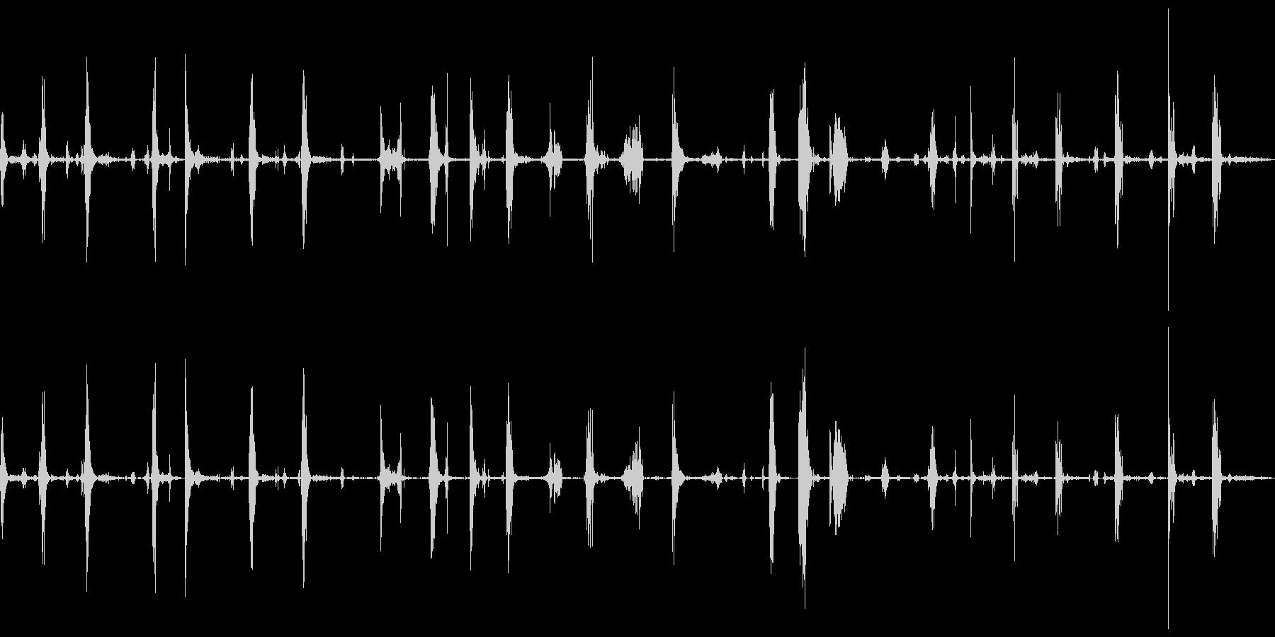 ショールスノーとメタルショール、掘...の未再生の波形