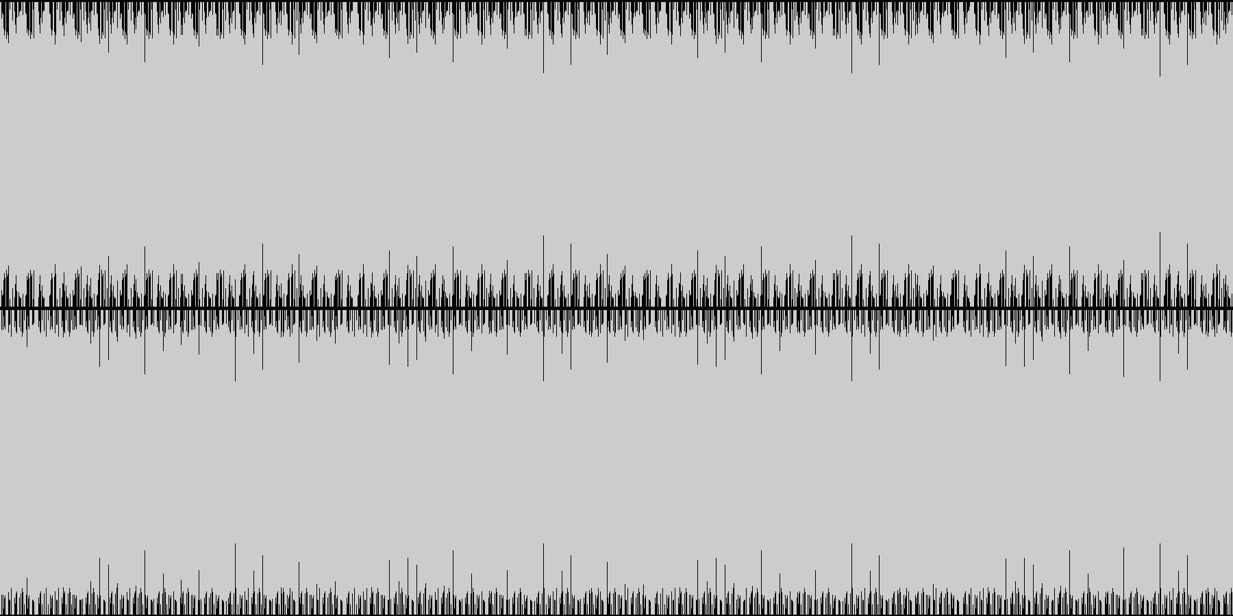 アンビエント風な短いループの曲の未再生の波形