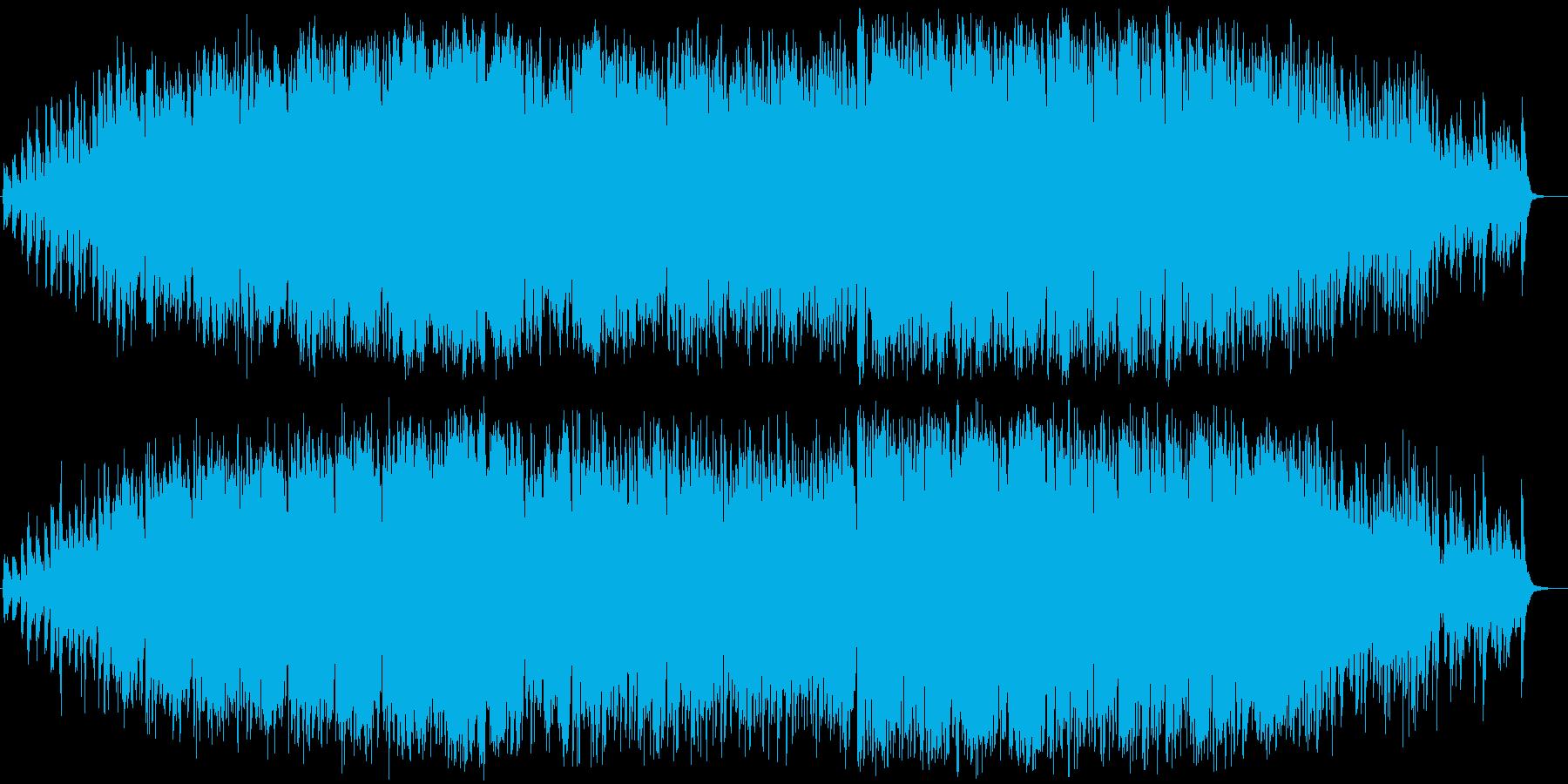 緊迫感あふれるオーケストラの再生済みの波形