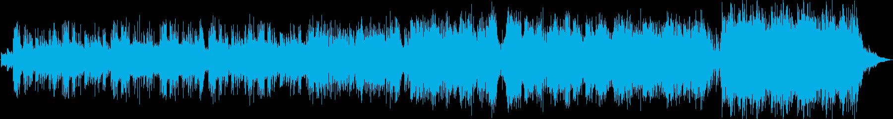 暖かくて癒やされるピアノメインのワルツの再生済みの波形