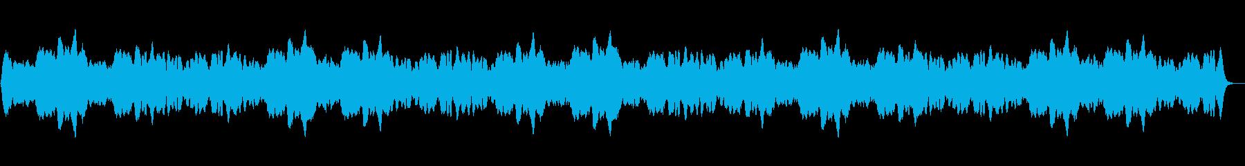 ゆったりとしたヒーリング音楽(水の音)の再生済みの波形