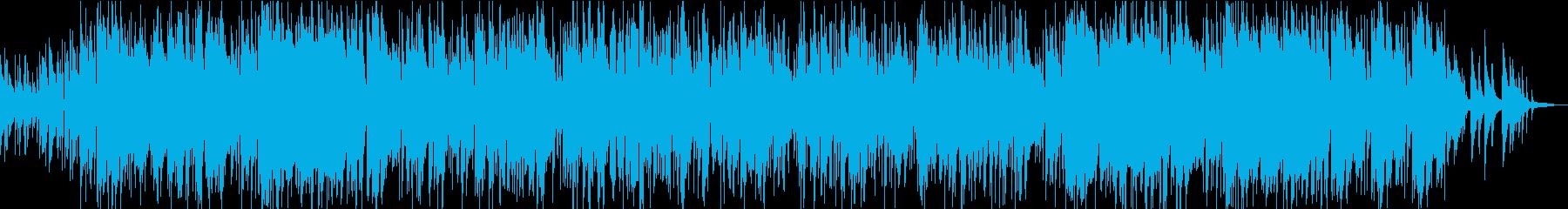 トランペットとサックスの癒し系ジャズの再生済みの波形