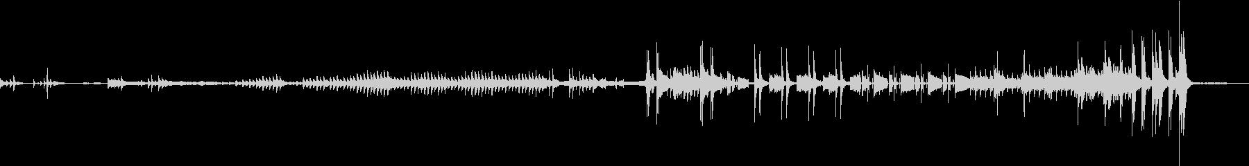 逆再生ギターとグロッケンが響く不気味曲の未再生の波形