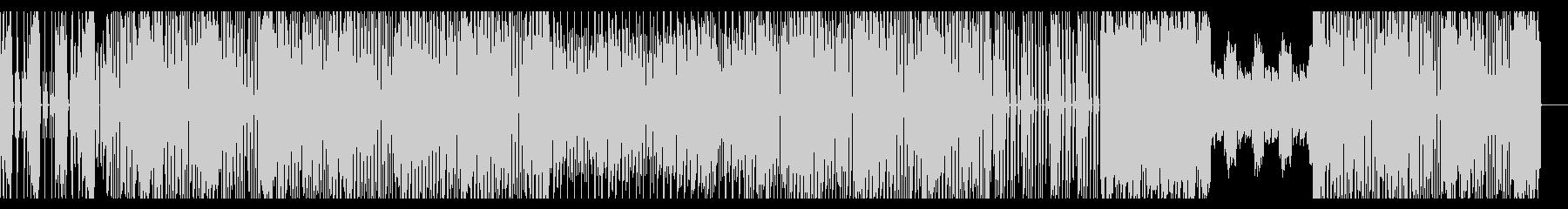 ファンキーなテクノBGMの未再生の波形