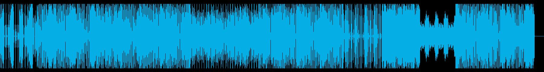ファンキーなテクノBGMの再生済みの波形