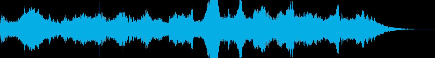 チェロが印象的なBGMの再生済みの波形