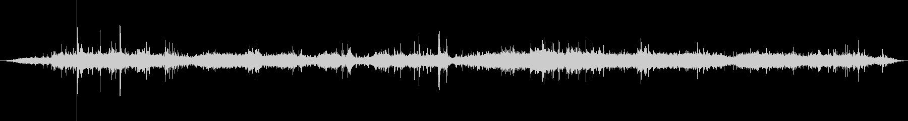 ASMR録音したシャワーを浴びる音の未再生の波形