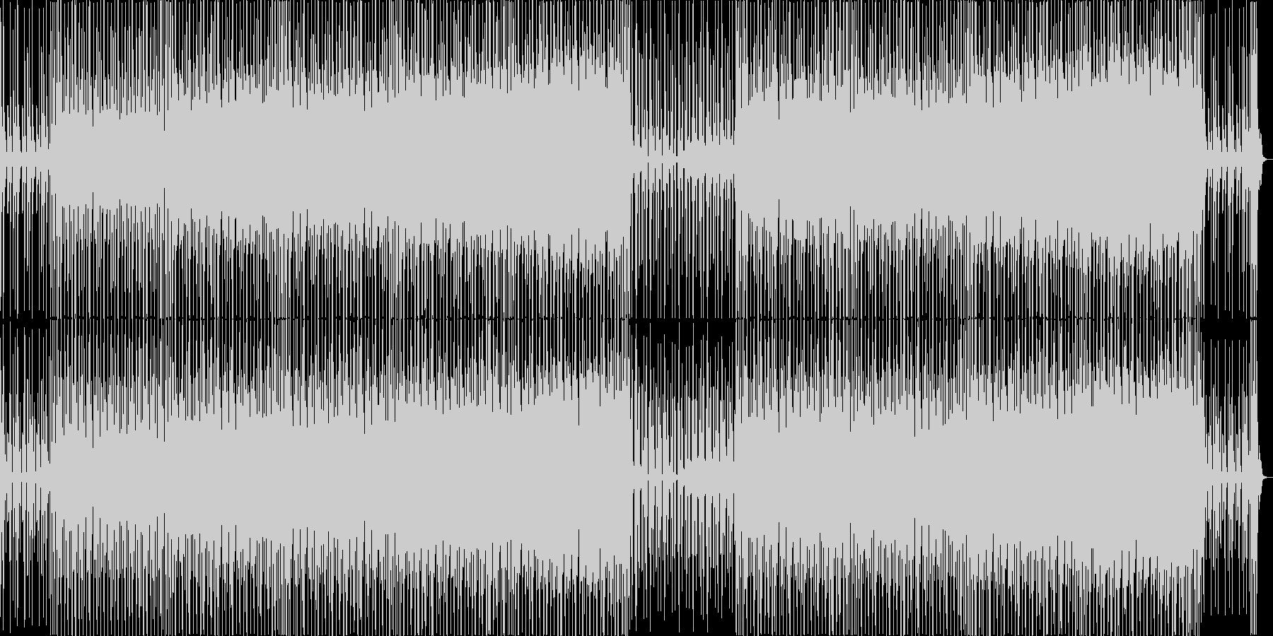 ラテンのリズムとエスニック系のBGMの未再生の波形