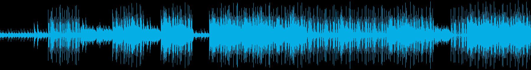 現代音楽風(ミニマル)ダークなトラックの再生済みの波形