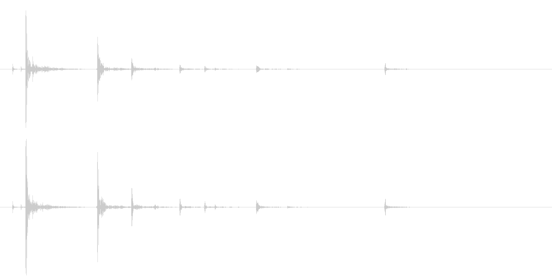 【生録音】カジノ サイコロを振る音の未再生の波形