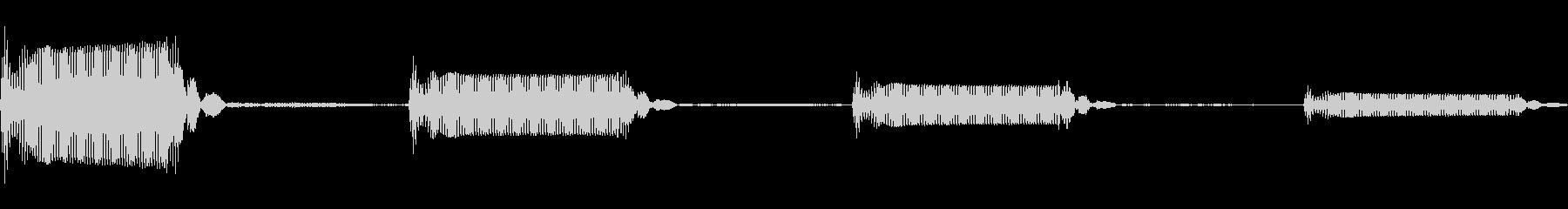 ゲーム用:選択音「ピッ」の未再生の波形