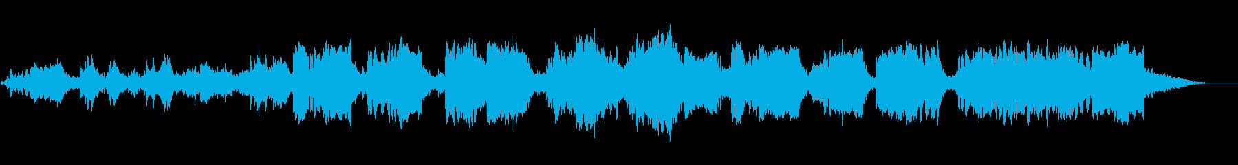 水を感じる音楽の再生済みの波形