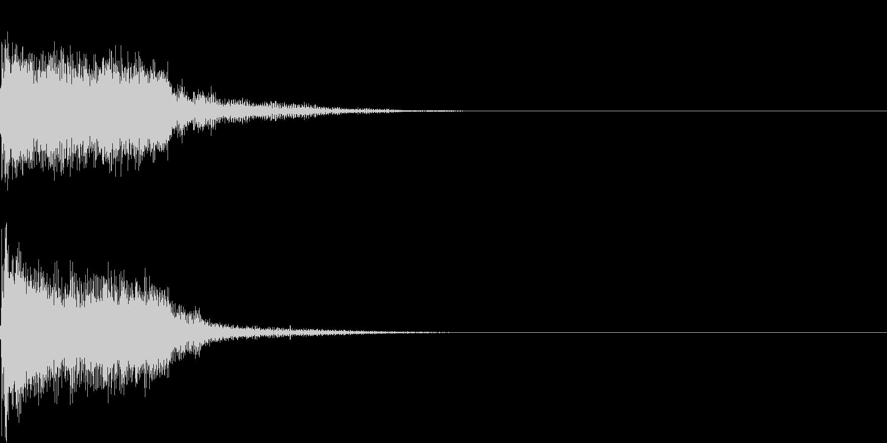 衝撃 金属音 恐怖 震撼 ホラー 11の未再生の波形