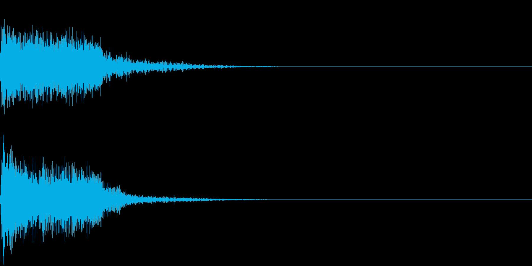 衝撃 金属音 恐怖 震撼 ホラー 11の再生済みの波形